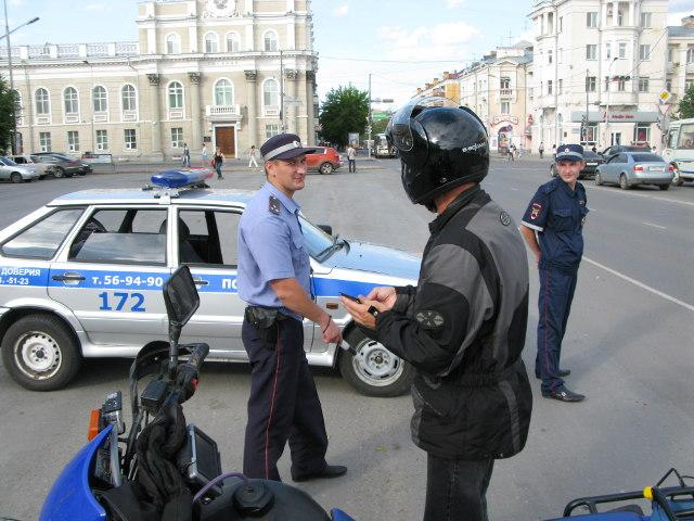 Stoppad av polisen